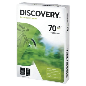 DISCOVERY PAPER A4 70 GSM WHITE - BOX OF 5 REAMS (2500 SHEETS)