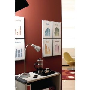 PAPERFLOW 4066 INFORMATION DISPLAY A4 SIZE - GREY - PACK OF 4