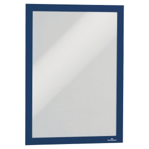 DURABLE DURAFRAME SELF ADHESIVE MAGNETIC DISPLAY FRAME A4 BLUE - PACK OF 2