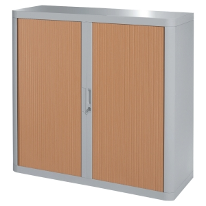 PAPERFLOW EASYOFFICE TAMBOUR CUPBOARD 1M GREY / BEECH