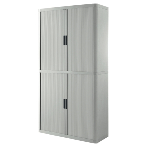 PAPERFLOW EASYOFFICE TAMBOUR CUPBOARD 2M GREY