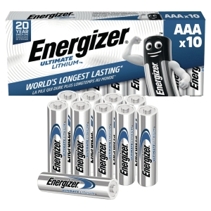 ENERGIZER ULTIMATE LITHIUM BATTERIES LR3/AAA - PACK OF 10