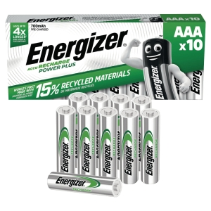 ENERGIZER RECHARGEABLE BATTERIES AAA - 850MAH - PACK OF 10