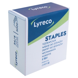 LYRECO STAPLES 24/6 - BOX 5000