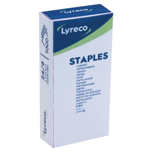 LYRECO STAPLES 24/6 - BOX OF 1000