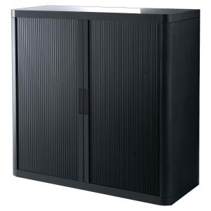 PAPERFLOW EASYOFFICE TAMBOUR CUPBOARD 1045 X 1100 X 415MM BLACK/BLACK