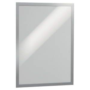 DURABLE DURAFRAME SELF ADHESIVE MAGNETIC DISPLAY FRAME A3 SILVER - PACK OF 2