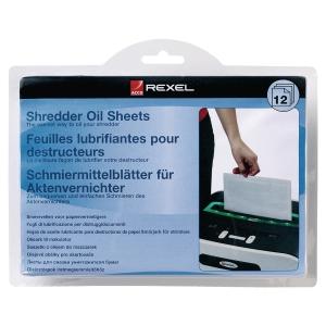 REXEL SHREDDER OIL SHEETS - PACK OF 12