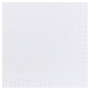 DUNI WHITE 2 PLY NAPKINS - PACK OF 125