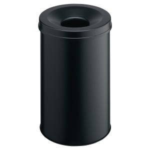 DURABLE METAL & FIREPROOF WASTE BIN 30 LITRE BLACK