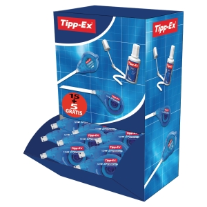TIPP-EX EASY CORRECT ROLLER - BOX OF 15 + 5 FREE