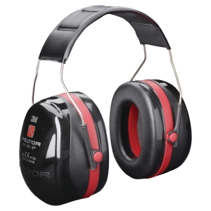 3M PELTOR OPTIME III EAR MUFF BLACK/RED