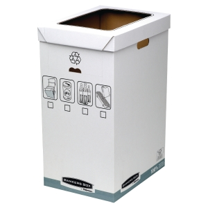 FELLOWES BANKERS BOX SYSTEM RECYCLE BIN WHITE/GREY - PACK OF 5