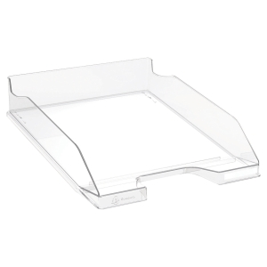 EXACOMPTA OFFICE LETTER TRAY COMBO MIDI, 347X255X65MM - CLEAR GLOSSY