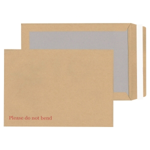 LYRECO MANILLA C4 PEEL AND SEAL BOARD-BACK ENVELOPES 115GSM - BOX OF 125