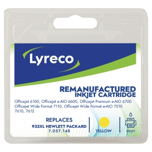 LYRECO INKJET COMPATIBLE CARTRIDGE HP933XL YELLOW
