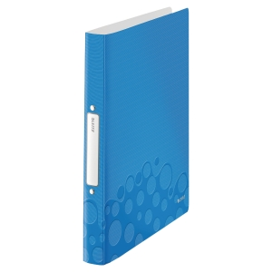 LEITZ WOW 2-RING BINDER POLYPROPYLENE A4 BLUE