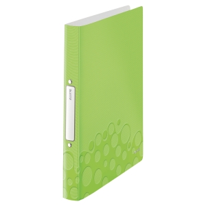 LEITZ WOW 2-RING BINDER POLYPROPYLENE A4 GREEN