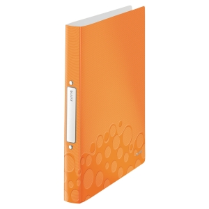 LEITZ WOW 2-RING BINDER POLYPROPYLENE A4 ORANGE