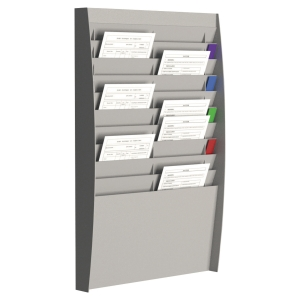 PAPERFLOW WALL DISPLAY RACK 20 COMPARTMENTS GREY