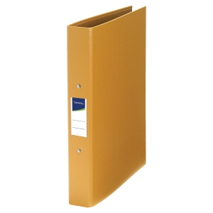 LYRECO PP RING BINDER, 2 O-RINGS, 32X25.5CM, A4, 40MM SPINE - YELLOW
