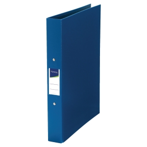 LYRECO PP RING BINDER, 2 O-RINGS, 32X25.5CM, A4, 40MM SPINE - BLUE