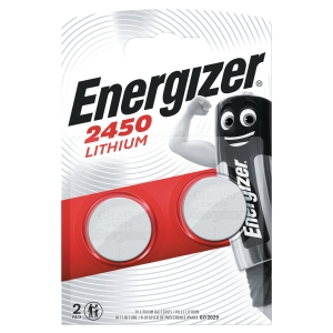 ENERGIZER CR2450 LITHIUM COIN CELL BATTERY PACK OF 2