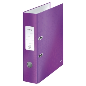 Leitz 180 WOW A4 Lever Arch File Purple