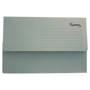 LYRECO GREEN FOOLSCAP DOCUMENT WALLETS 290GSM 32MM CAPACITY - BOX OF 50