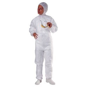 DISPOSABLE  COVERALL WHITE XL
