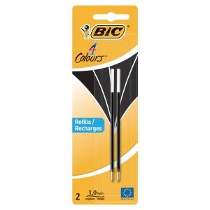 BIC BLACK REFILL FOR DESK PEN & 4 COLOUR PEN - PACK OF 2