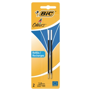 BIC BLUE REFILL FOR DESK PEN & 4 COLOUR PEN - PACK OF 2