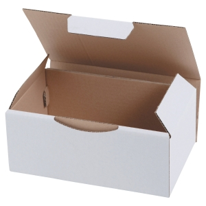 POSTAL BOX ECO 180X100X50MM WHITE PACK 50