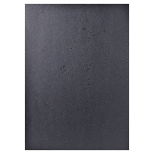 EXACOMPTA LEATHERGRAIN BINDING COVERS BLACK - BOX OF 100