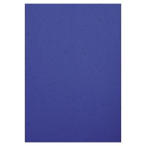 BX100 EXACOMPTA LEATHERGRAIN COVERS DARK BLUE