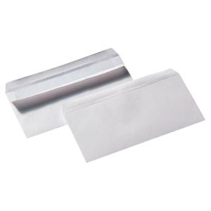 LYRECO WHITE DL SELF SEAL PLAIN ENVELOPES 90GSM - BOX OF 500