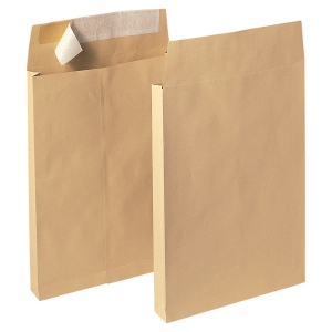 LYRECO MANILLA B4 PEEL AND SEAL GUSSET ENVELOPES 120GSM - BOX OF 100