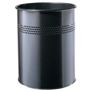 TWINCO METAL WASTE BIN 14 LITRE BLACK