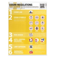 COSHH SYMBOLS & REGULATIONS POSTER