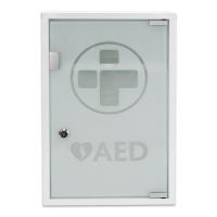 AED ALARMED METAL W/CABINET GLASS DOOR