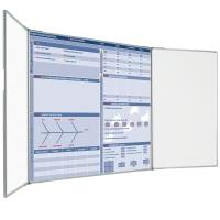 CUSTOM PRINTED MAGNETIC LANDSCAPE WHITEBOARD 2 PLAIN WINGS 1800MM X 1200MM