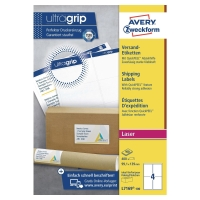 AVERY L7169-100 BLOCKOUT LASER SHIPPING/PARCEL LABELS 139X99.1MM - BOX OF 100