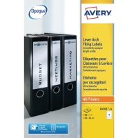 AVERY L4761-25 LEVER ARCH FILE FILING LABELS 192 X 61MM - BOX OF 25