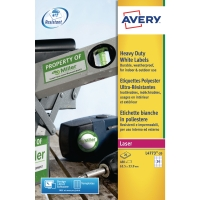 AVERY L4773-20 WHITE HEAVY DUTY LABELS 64.6 X 33.8MM - BOX OF 20