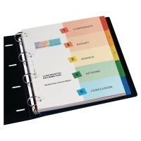 AVERY A4 READY INDEX DIVIDERS 5 PART PRINTED