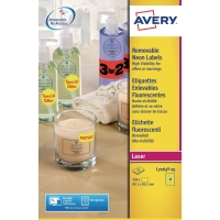 AVERY L7263Y HIGH VISIBILITY/PROMOTIONAL LABELS 99.1X38.1MM YELLOW - BOX OF 25
