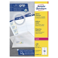 AVERY L7163-100 QUICKPEEL WHITE LASER ADDRESSING LABELS 99.1X38.1MM - BOX OF 100