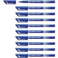 STABILO SENSOR 189 FINELINER BLUE PENS 0.3MM LINE WIDTH - BOX OF 10