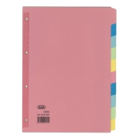 ELBA ASSORTED COLOUR A4 10 PART DIVIDERS WITH REINFORCED PUNCHED HOLES