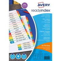AVERY A4 READY INDEX DIVIDERS 12 PART JAN-DEC PRINTED
